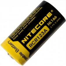 Аккумулятор Nitecore NL166 16340 /CR123A 650 mAh Li-Ion с защитой