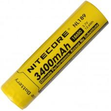 Аккумулятор Nitecore NL189 18650 3400 mAh с защитой (Protected)