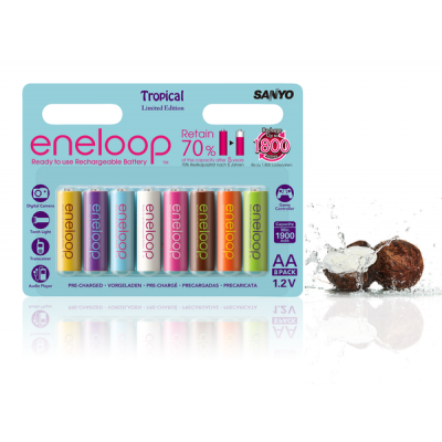 Аккумуляторы АА Sanyo Eneloop 2000 mAh Tropical Limited Edition (8 шт. в блистере)