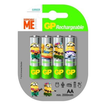 Аккумуляторы GP Recyko Minion AA 2000 mah, 4 шт./уп.
