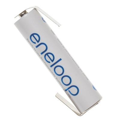 Аккумулятор Panasonic Eneloop ААА 800 mAh (min.750mah) с лепестками под пайку (BK-4MCCE/BFT), без упаковки