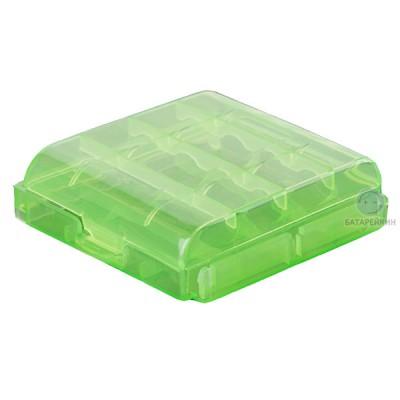 Бокс (кейс, органайзер) для аккумуляторов АА / ААА (зеленый)