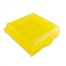 Бокс для аккумуляторов АА / ААА (желтый)