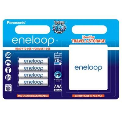 Аккумуляторы Panasonic Eneloop AAA 800 mAh (min.750mah), 4 шт./уп.+кейс (BK-4MCCEC4BE)