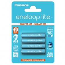 Аккумуляторы Panasonic Eneloop Lite AAA 600 mAh (min.550mah), 4 шт./уп. (BK-4LCCE/4BE)