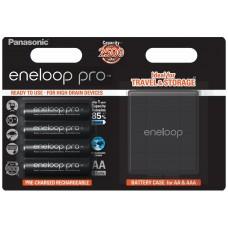 Аккумуляторы Panasonic Eneloop Pro AA 2600 mAh (min.2500mah), 4 шт./уп.+кейс (BK-3HCDEC4BE)