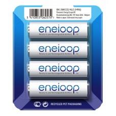 Аккумуляторы Panasonic Eneloop AA 2000 mAh (min.1900mah), 4 шт./уп. Sliding Pack