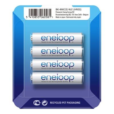 Аккумуляторы Panasonic Eneloop AAA 800 mAh (min.750mah), 4 шт./уп. Sliding Pack, (BK-4MCCE/4LE)