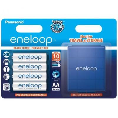 Аккумуляторы Panasonic Eneloop AA 2000 mAh (min.1900mah), 4 шт./уп.+кейс (BK-3MCCEC4BE)