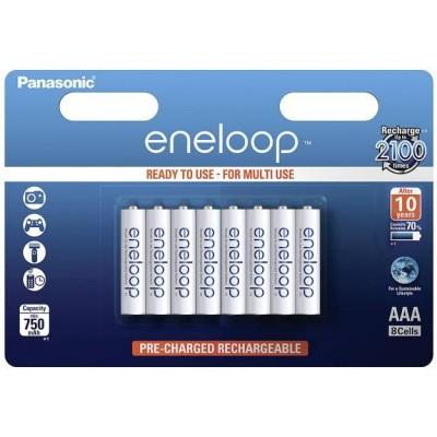 Аккумуляторы Panasonic Eneloop AAA 800 mAh (min.750mah), 8 шт./уп. (BK-4MCCE/8BE) (BK-4MCCE/8BE)