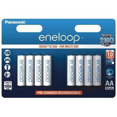 Аккумуляторы Panasonic Eneloop AA 2000 mAh (min.1900mah), 8 шт./уп. (BK-3MCCE/8BE)