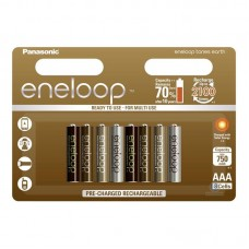 Аккумуляторы Panasonic Eneloop Tones Earth АAА 800 mAh (min.750mah), 8 шт./уп. (BK-4MCCE/8UE)