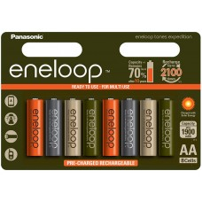 Аккумуляторы Panasonic Eneloop Tones Expedition АА 2000 mAh (min.1900mah), 8 шт./уп. (BK-3MCCE/8EE)