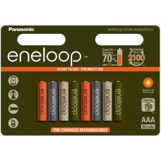 Аккумуляторы Panasonic Eneloop Tones Expedition АAА 800 mAh (min.750mah), 8 шт./уп. (BK-4MCCE/8EE)