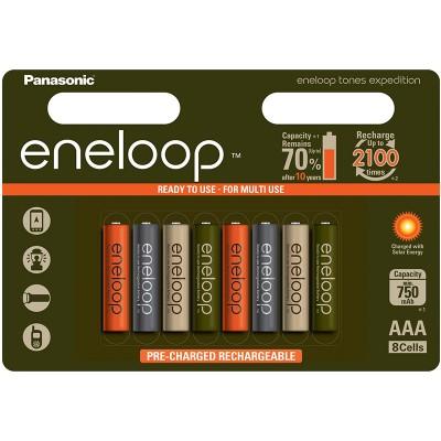 Аккумуляторы Panasonic Eneloop Tones Expedition АAА 800 mAh (min.750mah), 8 шт./уп. (BK-4MCCE/8EE)