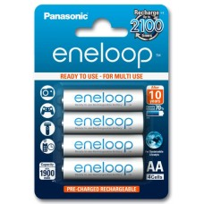 Аккумуляторы Panasonic Eneloop AA 2000 mAh (min.1900mah), 4 шт./уп. (BK-3MCCE/4BE)