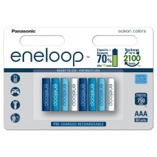 Аккумуляторы Panasonic Eneloop Ocean Colors АAА 800 mAh (min.750mah), 8 шт./уп. (BK-4MCCE/8SE)