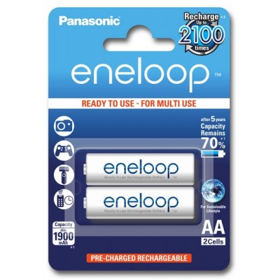 Аккумуляторы Panasonic Eneloop AA 2000 mAh (min.1900mah), 2 шт./уп. (BK-3MCCE/2BE)