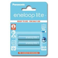Аккумуляторы Panasonic Eneloop Lite AAA 600 mAh (min.550mah), 2 шт./уп. (BK-4LCCE/2BE)