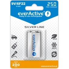Аккумулятор EverActive 250 mAh Silver Line, КРОНА 9V Ni-MH