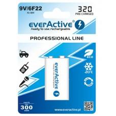 Аккумулятор EverActive 320 mAh Крона 9V Professional Line Ni-MH