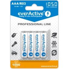Аккумуляторы EverActive AAA 1050 Professional Line 4 шт./уп.