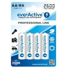 Аккумуляторы EverActive AA 2600 mAh Professional Line 4 шт./уп.