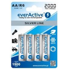 Аккумуляторы EverActive AA 2000 mAh Silver Line 4 шт./уп.