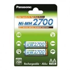 Аккумуляторы Panasonic High Capacity АА 2700 mah, 2 шт./уп. (BK-3HGAE/2BE)