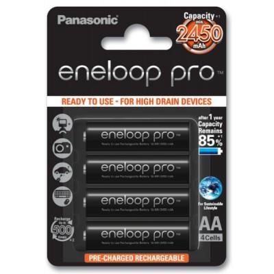 Аккумуляторы Panasonic Eneloop Pro AA 2550 mAh (min.2450mah), 4 шт./уп. (BK-3HCCE/4BE)