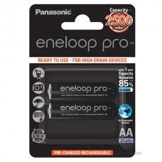 Аккумуляторы Panasonic Eneloop Pro AA 2600 mAh (min.2500mah), 2 шт./уп. (BK-3HCDE/2BE)