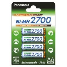 Аккумуляторы Panasonic High Capacity АА 2700 mah, 4 шт./уп. (BK-3HGAE/4BE)