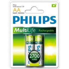 Аккумуляторы Philips MultiLife AA 2700 mAh 2 шт./уп.