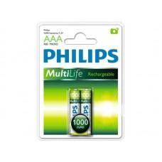 Аккумуляторы Philips MultiLife AAA 1000 mAh 2 шт./уп.