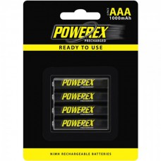 Аккумуляторы Powerex Precharged AAA 1000 mAh, 4 шт./уп. (MHRAAAP4)