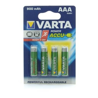 Аккумуляторы Varta Power Accu AAA 900 mAh Ni-Mh (4 шт. в блистере)