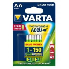 Аккумуляторы Varta Rechargeable Accu AA 2400 mAh 2 шт./уп. (56756101402)