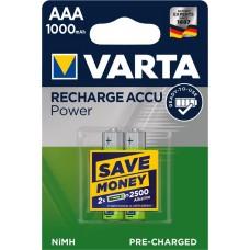 Аккумулятор VARTA Recharge ACCU AAA 1000mAh RTU, 2 шт./уп. (05703301402)