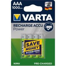 Аккумулятор VARTA Recharge ACCU AAA 1000mAh RTU, 4 шт./уп. (05703301404)