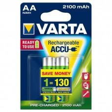 Аккумуляторы Varta Rechargeable Accu AA 2100 mAh 2 шт./уп. (56706101402)