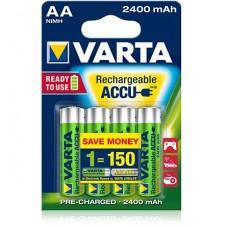 Аккумуляторы Varta Rechargeable Accu AA 2400 mAh 4 шт./уп. (56756101404)