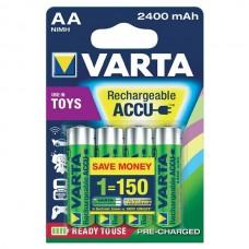 Аккумулятор VARTA TOYS ACCU AA 2400mAh, 4 шт./уп. (56786101404)