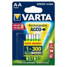 Аккумулятор VARTA Rechargeable Accu AA 2600mAh, 2 шт./уп. (05716101402)