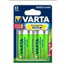 Аккумулятор VARTA Rechargeable ACCU D 3000mAh RTU, 2 шт./уп. (56720101402)