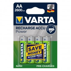 Аккумулятор VARTA Recharge Accu Power AA 2600mAh RTU, 4 шт./уп.