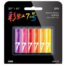 Батарейки Xiaomi ZI7 AAA Rainbow ALKALINE, 6 шт./уп.
