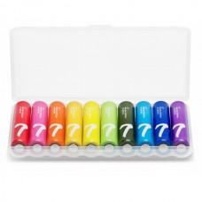 Батарейки Xiaomi ZI7 AAA Rainbow ALKALINE, 10 шт./уп.