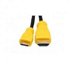 EXTRADIGITAL Видео кабель Mini HDMI to HDMI, 2m, позолоченные коннекторы, Blister, 1.3V