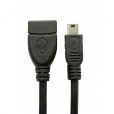 Extradigital кабель USB 2.0 AF – Mini USB Тип B 0,1м