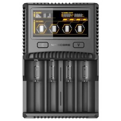 Зарядное устройство Nitecore SC4 для аккумуляторов Li-ion/Ni-Mh/Ni-Cd/LiFePO4